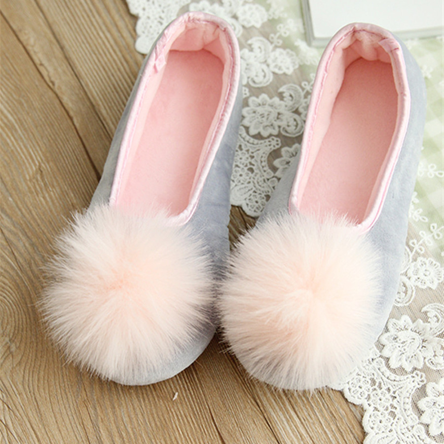 Hot Sale Women Indoor Wear Shoes Home Slippers Sweet Looking Two Colors Spring Autumn Wear Fashion  Style Comfortable Wear vanled 2017 new fashion spring summer autumn 5 colors home plush slippers women indoor floor flat shoes free shipping