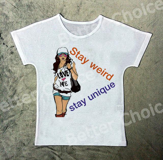 b031eeafb Track Ship+Vintage Retro T-shirt Top Tee Fashion Girl Love Myself Stay Weird