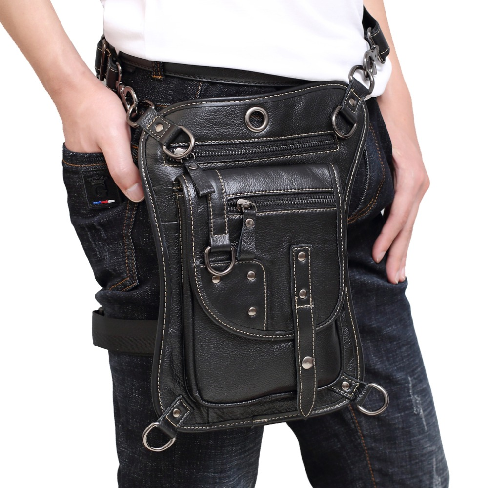 Mens  Oil Wax Genuine Leather Cowhide Waist Thigh Drop Leg Bag Travel Messenger Cross Body Shoulder Belt Hip Bum Fanny PackMens  Oil Wax Genuine Leather Cowhide Waist Thigh Drop Leg Bag Travel Messenger Cross Body Shoulder Belt Hip Bum Fanny Pack