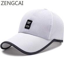 d34865bd19ed6 2018 Snapback Baseball Cap Long Visor Trucker Hat Unisex Sports Mesh Hats  For Women Men Outdoor Summer Sun Dad Hat Quick Dry Cap
