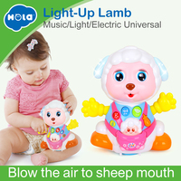 HOLA 888 Baby Toys Record and Play Interactive Electric Toy Sheep Kids Early Learning Educational Toys with Music & Lights