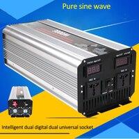 3000 Вт Инвертор Чистая синусоида солнечный автомобиль Мощность инвертор DC 12 В 24 В к AC 110 В 220 В цифровой Дисплей с Smart двойной вентилятор инверс