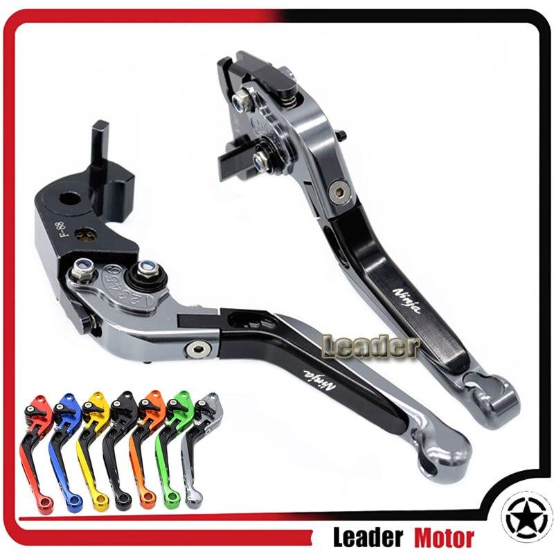 ФОТО For KAWASAKI ZX-6R/636 2007-2016 ZX-10R 2006-2015 NINJA 1000/Tourer 2011-2016 Folding Extendable Brake Clutch Levers Gray