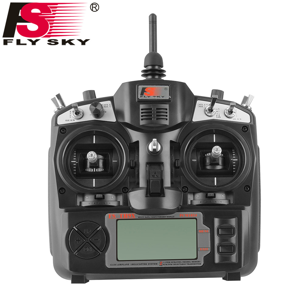 FlySky FS-TH9X FS-TH9B 2.4G 9CH Radio Set System RC 9CH Transmitter +FS-IA6B Receiver Radio Control Transmitter niorfnio portable 0 6w fm transmitter mp3 broadcast radio transmitter for car meeting tour guide y4409b