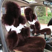Housse de siège en laine naturelle australienne Pure, couvre siège pour siège avant pour hiver, housse de siège en peau de mouton, de haute qualité 100% authentique