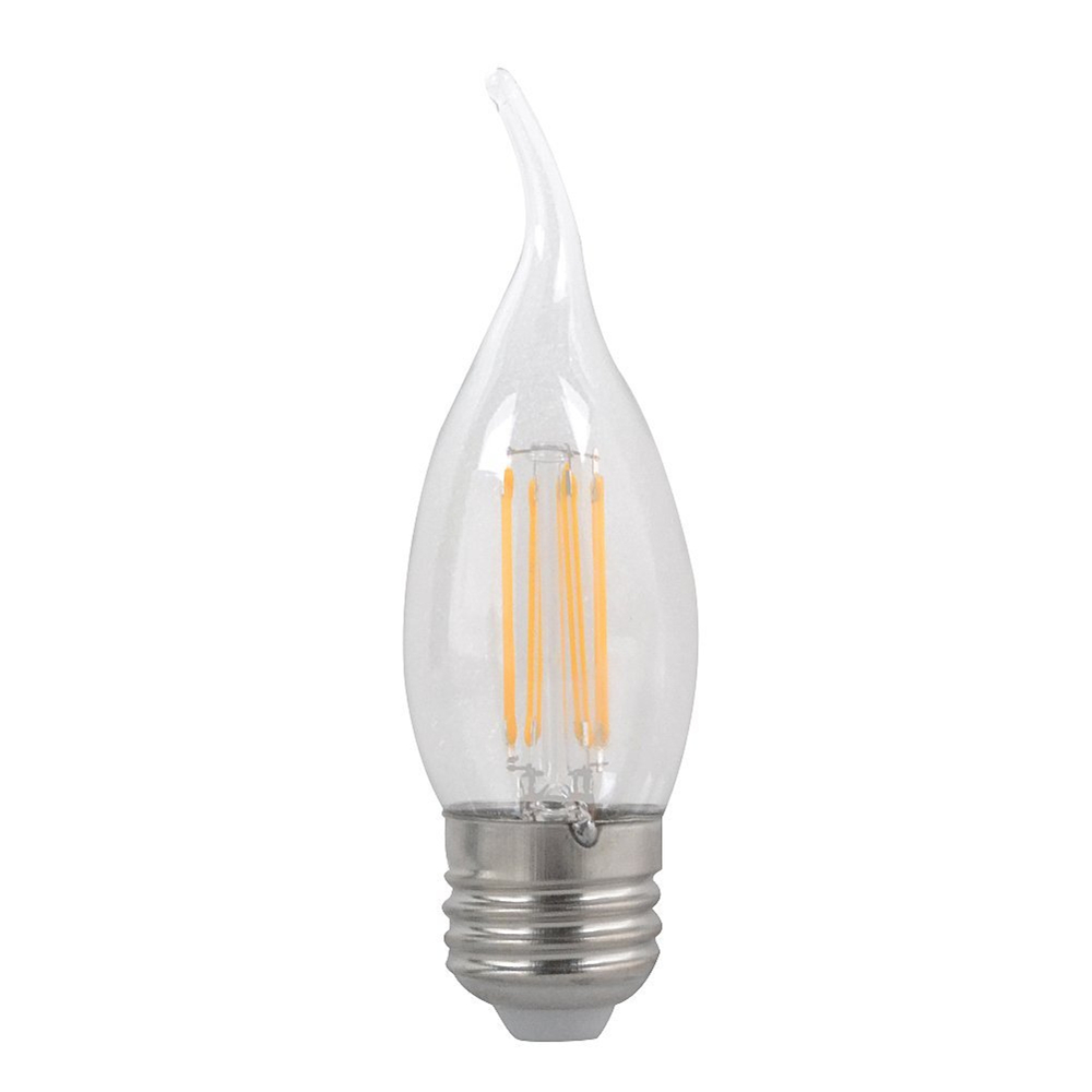 400lm Warm White 2800k Industrious 2w/4w6w Led Candle Light Pull Tail Flame Shape Bent Tip Filament Bulb,e27 C35 Candlestick Base Lights & Lighting
