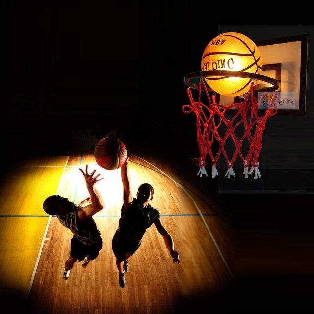 dp lamp coppery basketball glass light pendant mzstech single shade creative l head