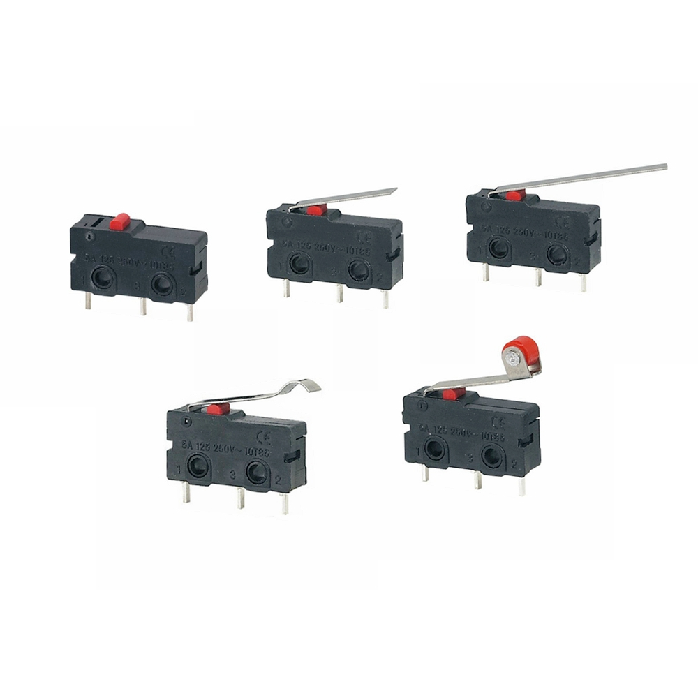 Image 3 - 5Pcs Mini Micro Limit Switch NO NC 3 Pins PCB Terminals SPDT 5A 125V 250V 29mm Roller Arc lever Snap Action Push Microswitches-in Switches from Lights & Lighting