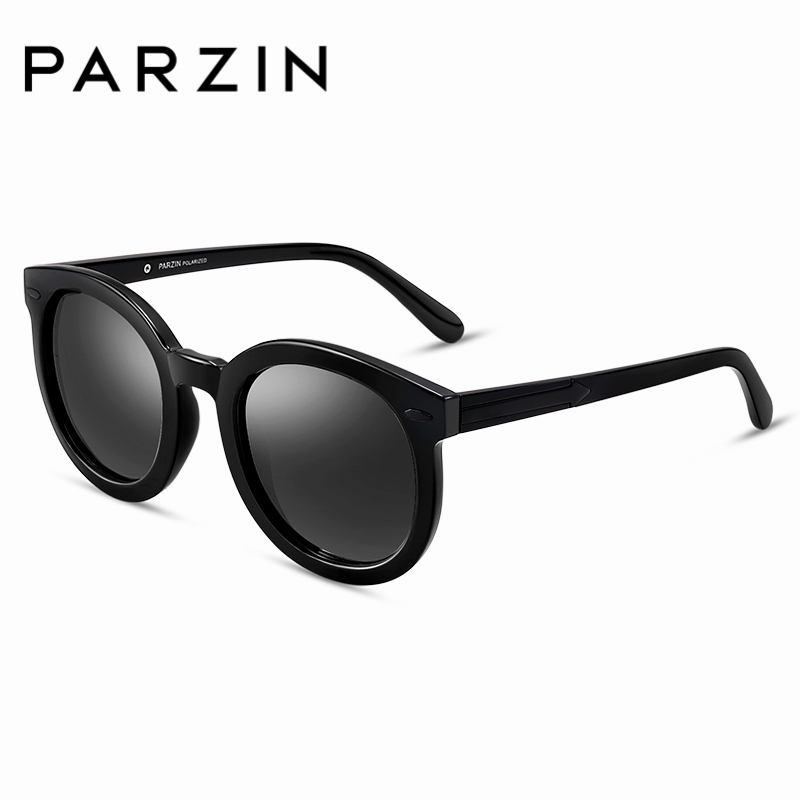 PARZIN Brand Polarized Sunglasses Men Women Lovers Round Frame Colors Lens Shield Anti UV400Fashion Driving Glasses