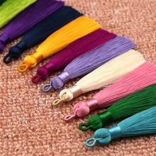 Распродажа 1 шт. Сделай сам уникальный шелк кисточка для капли серьги брелок уникальный красивый свадьба ручная работа ювелирные изделия аксессуары