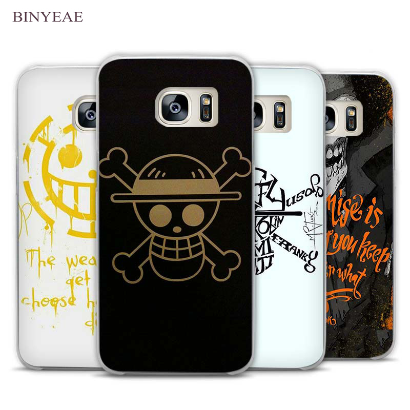 BINYEAE One Piece Pirates wars Clear Phone Case Cover for Samsung Galaxy Note 2 3 4 5 7 S3 S4 S5 Mini S6 S7 S8 Edge Plus