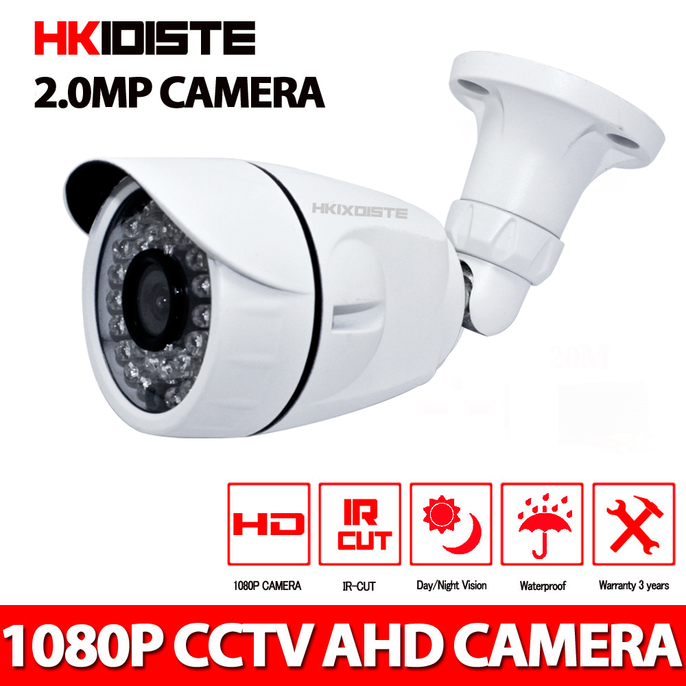 CCTV Camera CCD 3000TVL IR Cut Filter 2MP AHD Camera 1080P Outdoor Waterproof Bullet Security Camera  For AHD DVR wistino cctv camera metal housing outdoor use waterproof bullet casing for ip camera hot sale white color cover case