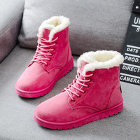 Women Boots Warm Winter Boots Female Fashion Women Shoes Faux Suede Ankle Boots For Women Botas Mujer Plush Insole Snow Boots 2