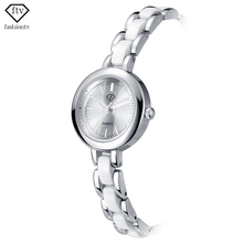 Sizzling Sale FTV Silver Imitated Ceramic Bracelet Ladies Watches Gown Girls Watches Authentic Reloj Pulsera Mujer Montre Femme 2017