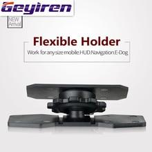 GEYIREN 2017 voiture HUD tête haute support daffichage flexible 360 réglage support de smartphone pour toute taille mobile HUD Navigation e dog