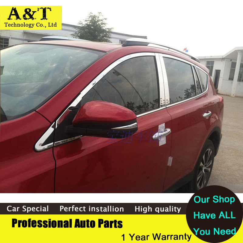 Stainless Steel All Body window sills trims For 2013 2014 2015 Toyota RAV4 high quality chrome stickers trim car styling Car Acc for renault koleos 2008 2009 2010 2012 2012 2013 stainless steel side door body moulding sills decoration trims car styling 4pcs