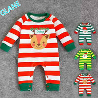 2016 New Cartoon Baby Boy Kids Newborn Infant Xmas Romper Outfit Clothing Set UK