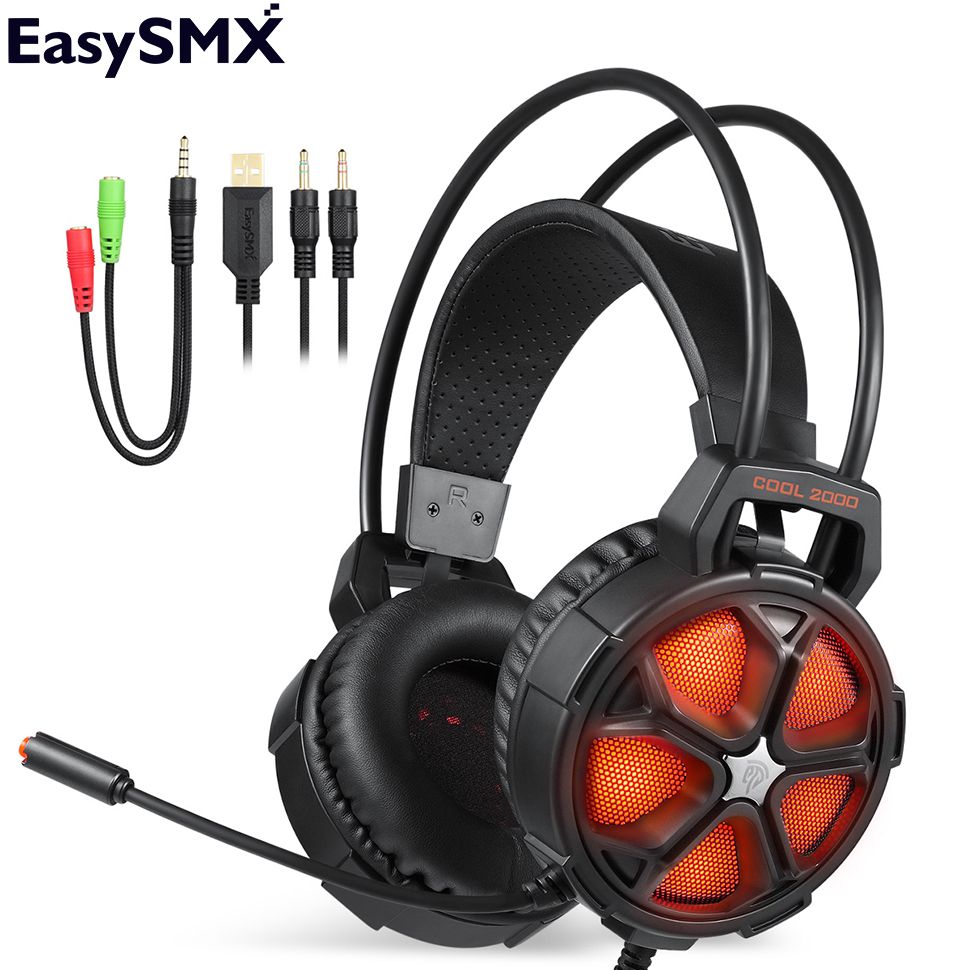 Gaming Headphone EasySMX COOL 2000 Stereo Gaming Headset Headphones With Mic Noise Cancelling Headphone For PS4 PC Gamers
