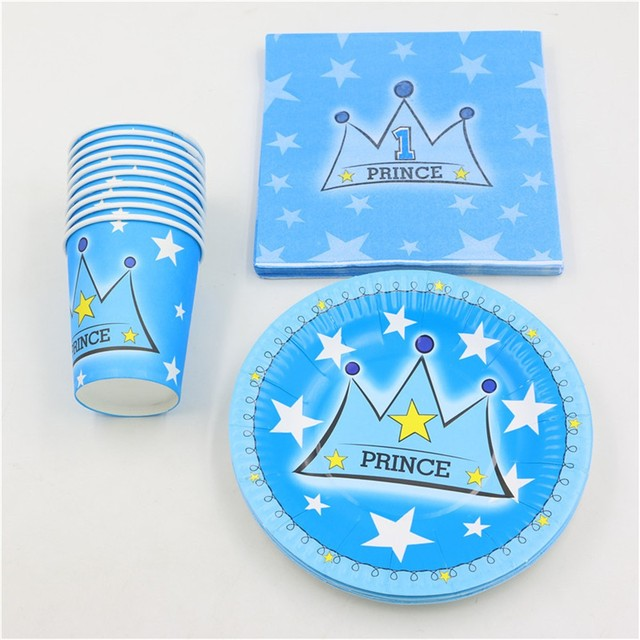 100pcs fashion blue crown prints birthday party paper napkin decoration paper plate cups kids favors boy  sc 1 st  AliExpress.com & 100pcs fashion blue crown prints birthday party paper napkin ...