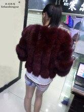 Linhaoshengyue 2014 lithium brief paragraph fox fur coat