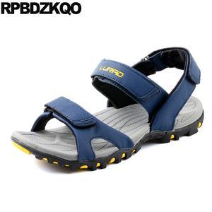 4bd534fbd13 RPBDZKQO 2018 Shoes Beach Men Sandals Leather Summer