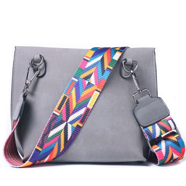 DAUNAVIA Brand Women Messenger Bag Crossbody Bag tassel Shoulder Bags Female Designer Handbags Women bags with colorful strap 3