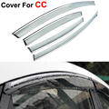 4pcs/lot Window Visors For Volkswagen VW CC 2013 2014 Sun Rain Shield Stickers Covers Car - Styling Awnings Shelters Accessories