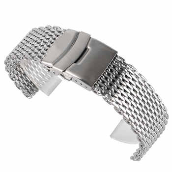 18mm 20mm 22mm Stainless Steel Mesh Watch Band Silver For Mens Wrist Watch Strap Bracelet Push Button Replacement - DISCOUNT ITEM  41% OFF All Category