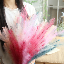 Artificial Dried Flowers Plush Grass Bouquet Silk DIY Wedding Decoration for Home Autumn Decor Fake