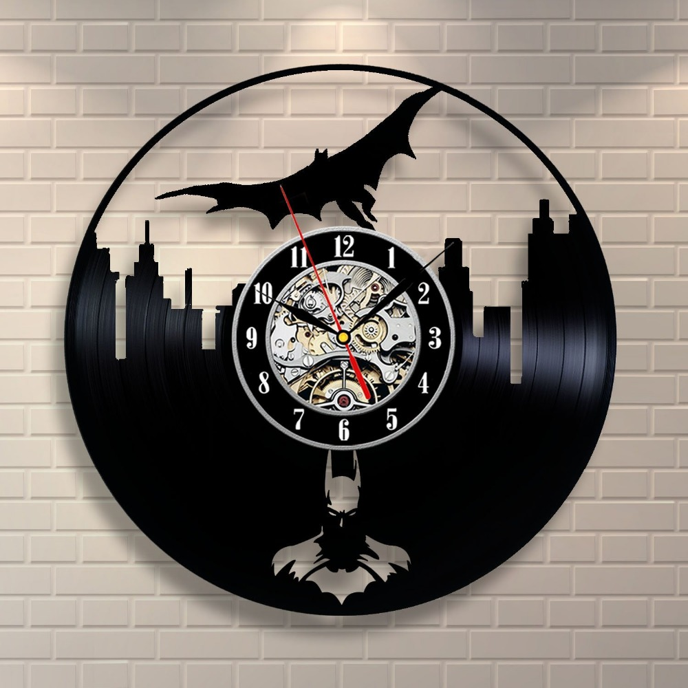 Batman Movie Vinyl Record Clock Home Design Room Art Decor