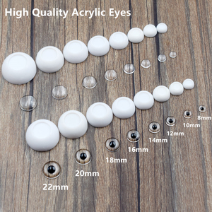 4 Pairs High Quality Half Round Acrylic BJD Doll Eyes 8mm 10mm 12mm 14mm 16mm 18mm 20mm 22mm Eyeball Toy Accessories(China)