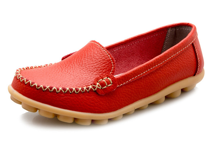 XY 918-2019 Genuine Leather Spring Autumn Women Loafers -14