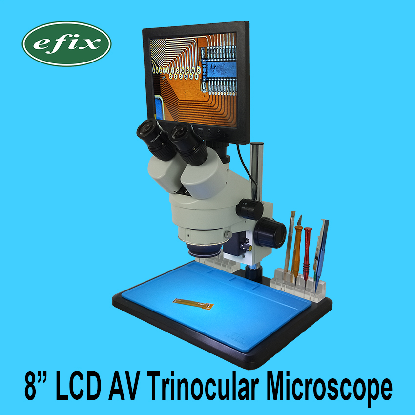 efix 8 Inch LCD AV Trinocular Stereo Soldering Microscope Continuous Zoom Digital HD Camera Workbench for iPhone Repair Tools fast ship diesel engine s195 crankshaft use on suit for changchai wanli and all chinese brand