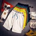 Pantalones cortos de verano delgadas masculinas más el tamaño grande de la rodilla-longitud pantalones ocasionales flojos hombres playa pantalones MS2209