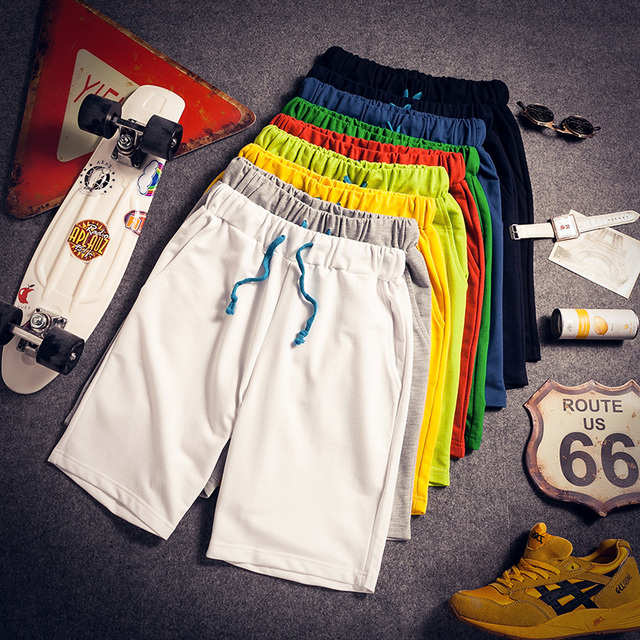 Thin summer shorts male plus big size knee-length pants loose casual beach men pants MS2209