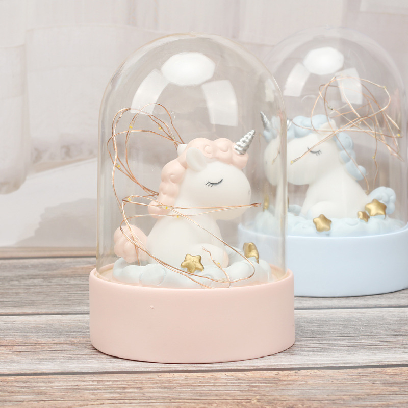Cartoon LED Night Light Luminaria Garland Fairy String Lights Novelty Unicorn Night Lamp Bedside Lamp For Kids Christmas New Year Gift (5)