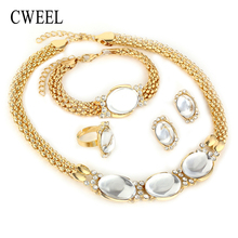 CWEEL Fashion Women Jewelry Sets African Beads Jewelry Set C