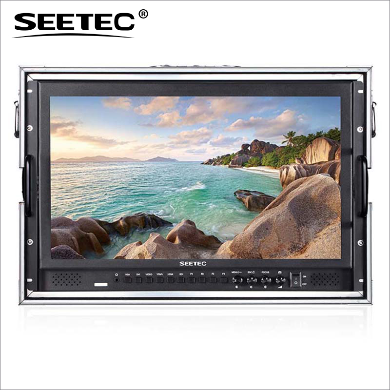 P173-9HSD-CO 17.3 Broadcast Monitor with 3G-SDI HDMI AV YPbPr Seetec 17.3 inch Carry-on LCD Director Broadcast Monitors