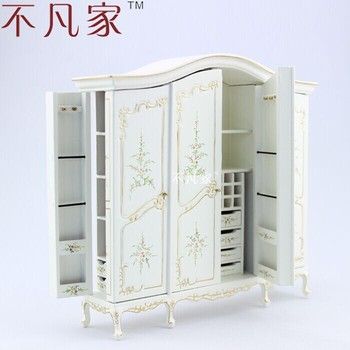 dollhouse  1:12 scale Fine  special offer  miniature furniture white painted cabinet 1 12 scale fine dollhouse miniature furniture white cabinet