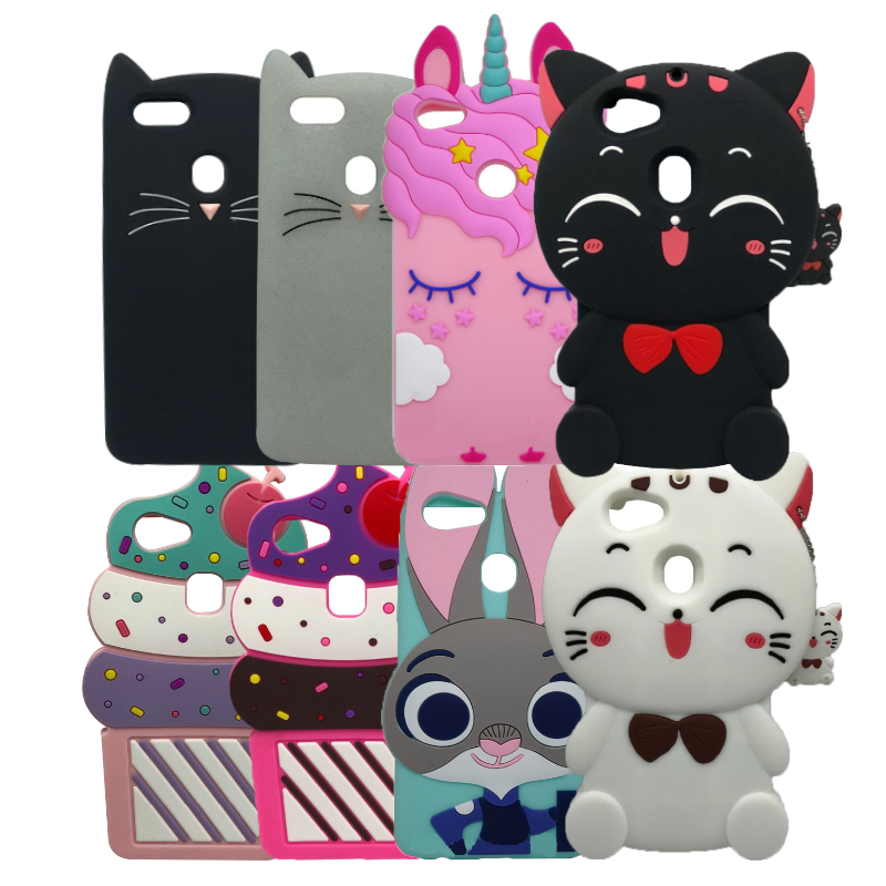 3D Cute Silicon Case For OPPO F5 Phone Case Cartoon Rabbit Cat Cupcake Cover For OPPO F 5 / A7310 Soft Back Case Shell