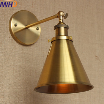 IWHD Industrial Vintage Wall Lamp LED Home Lighting American Country Loft Style Edison Wall Sconce Arandela Lampara Pared nordic edison wall sconce retro loft style industrial vintage wall lamp simple wall light fixtures for indoor lighting lampara