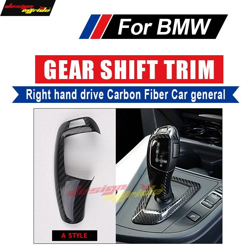 F22 Gear Shift Knob Cover Carbon fiber For BMW 220i 228i 230i 235i Right hand drive A-Style