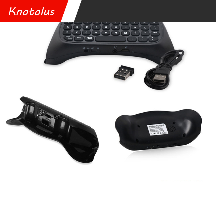 for PS4 2.4G wireless Game Handle keyboard black external keyboard Convenience game component Game controller keyboard