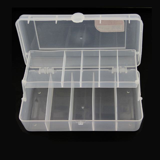 2 Tray PVC Fishing Tackle Tool Box Storage for Fishing Accessorie Hooks Lure Fishing Tool Box & 2 Tray PVC Fishing Tackle Tool Box Storage for Fishing Accessorie ...