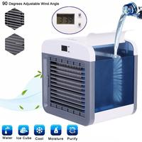 Portable Air Conditioner Humidifier USB Purifier Office Home Desk Cooling Fan