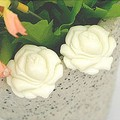 White and pink cute big roses and camellia peony flower earrings ladies jewelry wholesale jewelry