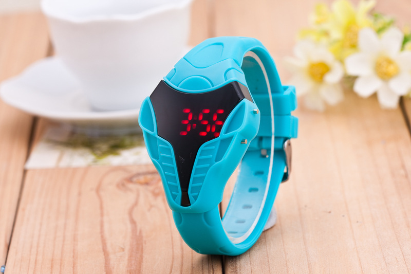 New Men Male Sport Led Watch Triangle Dial Snake Head Cobra Women Mens Wristwatch Silicone Rubber Creative Digital Watches Buy One Give One Watches