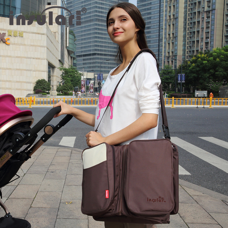High Quality 2016 Multinational Foldable Brand Maternity BagFor Baby 3 in 1 Diaper Bag Mother Waterproof Mummy Bags For Travel mr monk in outer space