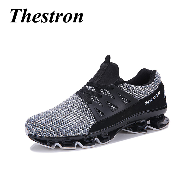 New Plus Size 39-46 Men Running Shoes Mesh Breathable Sport Sneakers Black Red Mens-Athletic-Shoes Mens Gym Trainers Sport