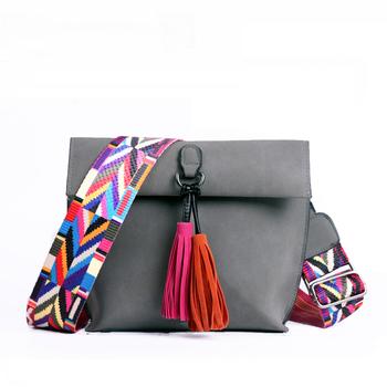 SWDF nowe torebki damskie torby na ramie z frędzlami dla dziewczynek torby na ramię kobiece designerskie torebki Bolsa Feminina Bolsos Muje tanie i dobre opinie FLAP Na ramię i torby crossbody CN (pochodzenie) Zipper hasp SOFT NONE moda D-88 POLIESTER Versatile WOMEN Stałe Pojedyncze